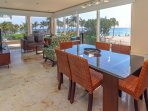 Dining and Living Areas with Ocean View
