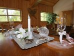 HS Treetop Suite with kitchen is perfect for event planning, prep for special gatherings.