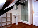 Well-appointed bathroom with separate shower and bath