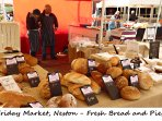Neston Friday market - Fresh bread and pies