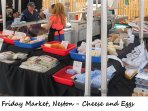 Neston Friday market - Cheese and eggs