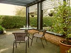 Private patio with feature beamed pergola