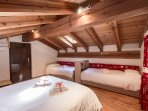 Family Bedroom Mountain Chalet Courmayeur