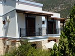 The villa has 3 balconies with pool, sea and mountain views