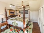 Suite #1  with Balinese bed and furniture. High quality mattress/ bedding.