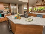 Amazing views of golf course and ocean while you are prepping in the kitchen!