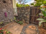 Private outdoor garden shower. Best shower experience ever! this IS Hawaii!