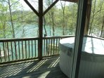 Hot Tub, view from lower level deck