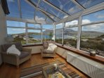 Conservatory with stunning views