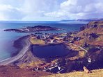 Ellenabeich village and Easdale Island from the hill.