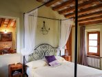 Entering the Honeymoon Suite is like being in a tree house with a view in the Elm tree...