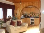 Spacious Chalet Lounge - through to Kitchen /Dining