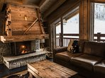 Our snug, complete with log fire for chilly summer evenings or the perfect post ski retreat.