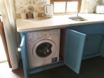 Washing machine for clothing in the Astraeus apartment