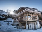 A winter paradise in the family friendly ski area of les Houches.