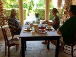 Breakfast under the lapa