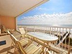 Balcony Islander Beach 4009 Fort Walton Beach Okaloosa Island Vacation Rentals