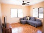 Livingroom with 55' Smart TV