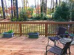 Full deck & Private Fenced Yard. Access deck via French doors in family room. No steps!.