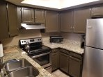 Upgraded kitchen with stainless steel appliances, coffee maker, microwave, toaster and more!