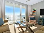 Family room has full unobstructed views of the Gulf