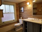 We wanted to keep the 1930's feel of the property in the bathroom but add modern conveniences,