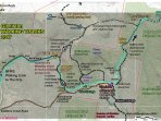 Map of Walks on property and surrounding Goulburn River National Park