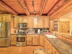 You'll have ample counter space for evening meal preparations.