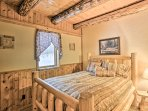 Enjoy peaceful slumbers on the full bed in the first downstairs bedroom.