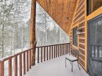 You'll have incredible views of the forest from the private balcony perch!