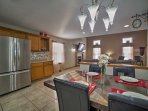Put your culinary skills to the test in this spacious, fully equipped kitchen.