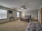Bedroom three has a twin bed and a twin daybed with a twin trundle.
