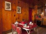 Adorable indoor dining comfort