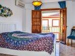 Master sovrum med egen balkong