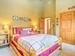 You'll fall fast asleep in this queen bed.