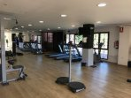 free use of the well equiped gym, the sauna, steam room, jacuzzi, tennis courts, golf and boulles...