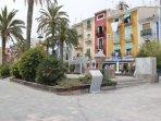 Casas y restaurantes playa centro, junto al paseo