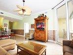 Living Room Waters Edge Resort Unit 604 Fort Walton Beach Okaloosa Island Vacation Rentals