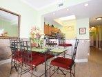 Dining Area Waters Edge Resort Unit 604 Fort Walton Beach Okaloosa Island Vacation Rentals