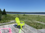 Enjoy the view from the deck at Sanderling Beach House