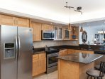 The kitchen has all new stainless appliances and granite counters. All the amenities are included.