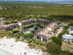 Pointe Santo is one of the closest condo complexes to the beach on Sanibel Island.