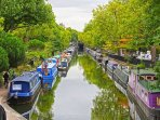 Regents Canal on your doorstep offers lovely walks