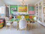 Bright and light dining area