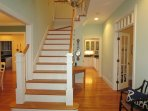 Main stairway to the 2nd floor - 29 Bellamy Lane North Chatham Cape Cod - New England Vacation Rentals