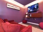 A quirky and cool cinema room