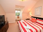 King-size bedroom with beautiful views