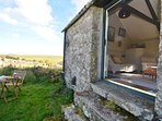 Access onto the moor with seating and countryside views