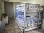 The bunk bed includes 2 full size beds (top and bottom), plus a full size trudle, ideal for 6 children or 3 adults.