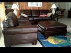 The upsatirs living quarters had a brand new, leather, queen sleeper sofa and love seat.